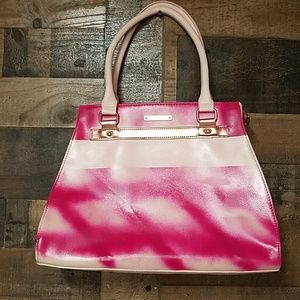 Trashed pink purse 15x11x5